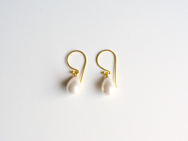 Ganz pur Edle Perlen Ohrringe vergoldet