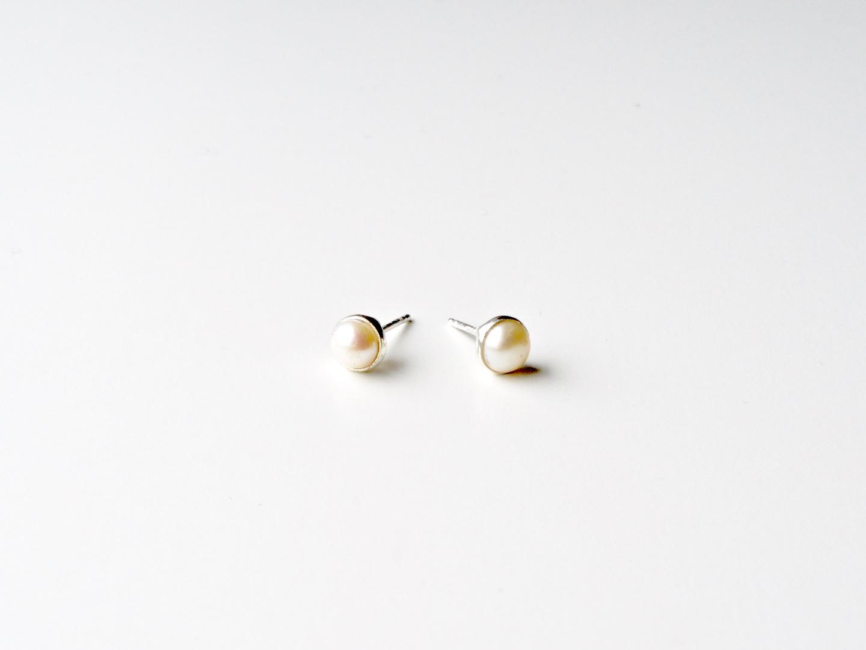 Pearls Perlen Ohrstecker silber