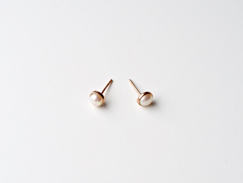 Pearls Collection Perlen Ohrstecker ros vergoldet