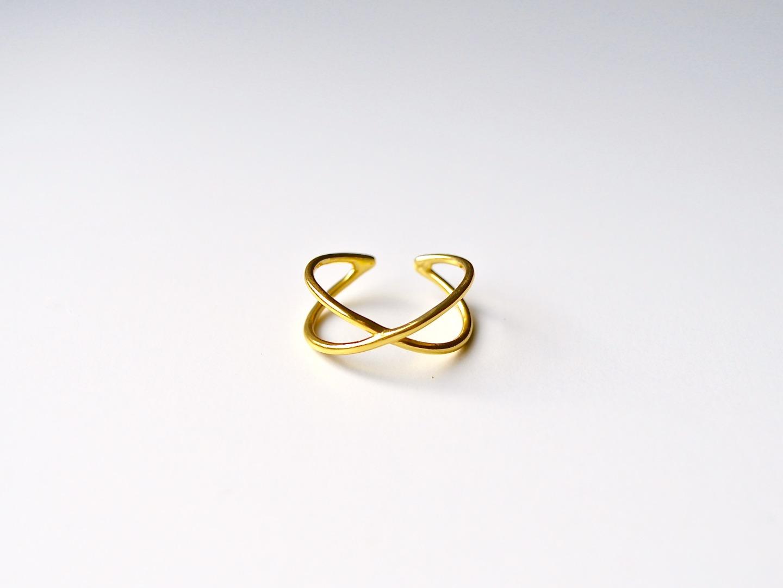 Ring Cross vergoldet