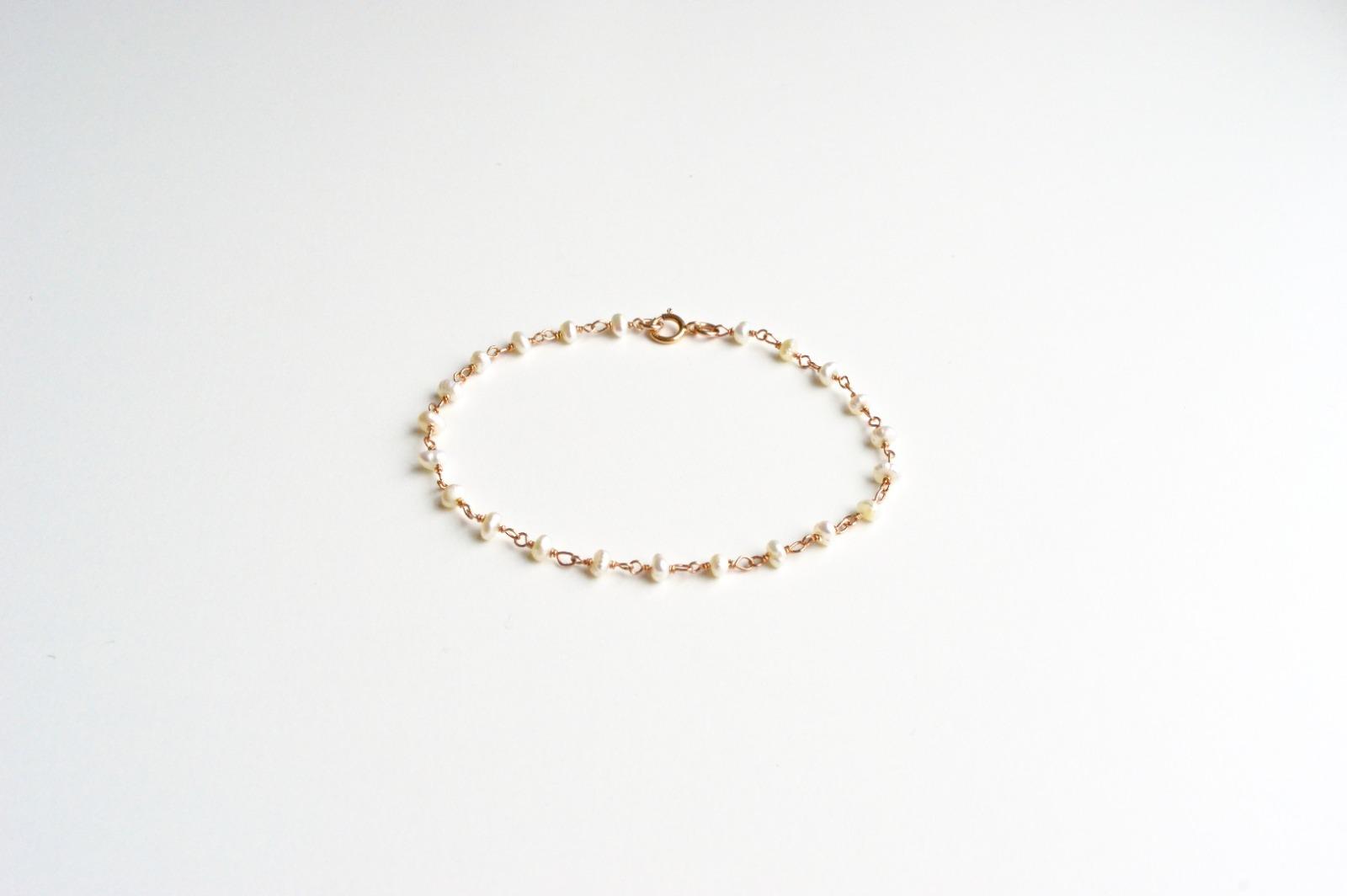 Reizend Zartes Perlen Armband ros vergoldet