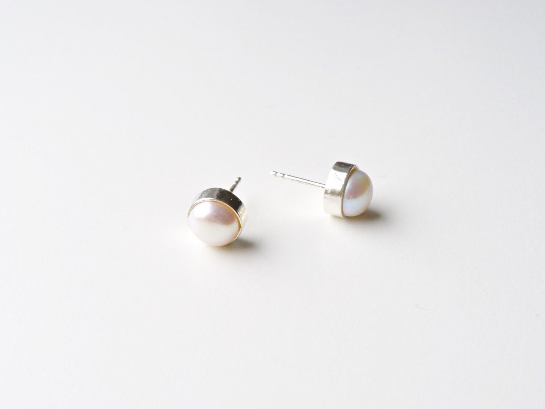 Bold Pearls Perlen Ohrstecker silber