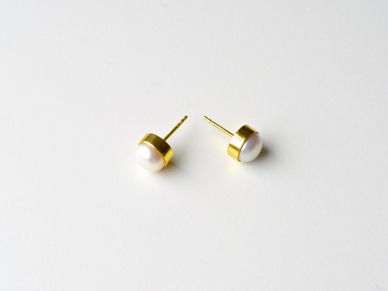 Bold Pearls Perlen Ohrstecker vergoldet