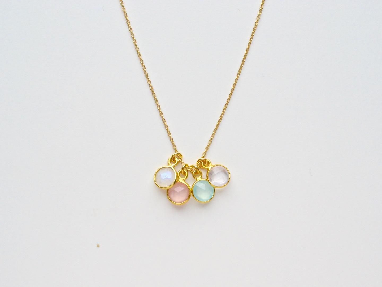 Tiny Gems Rosenquarz Kette vergoldet