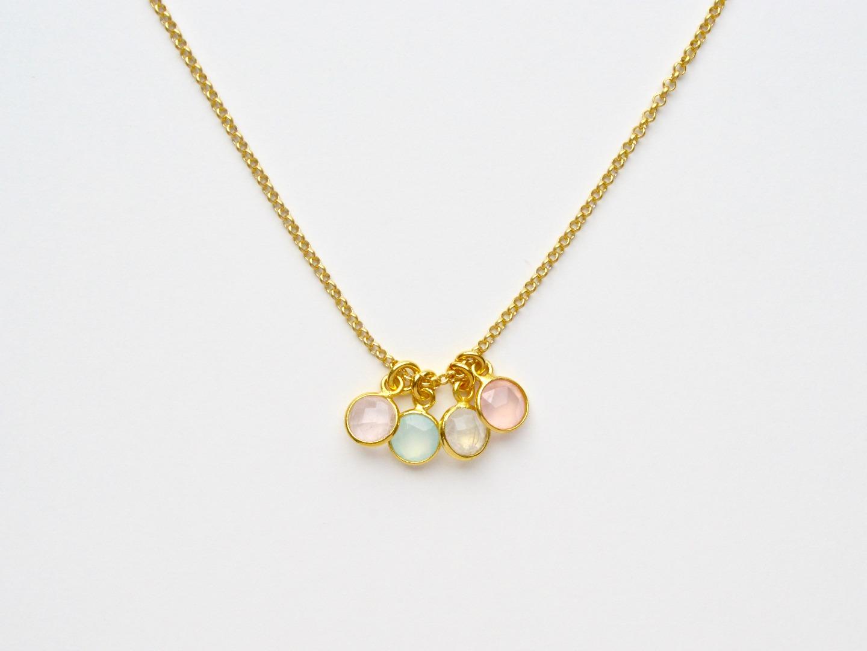 Tiny Gems Rosenquarz Armband vergoldet