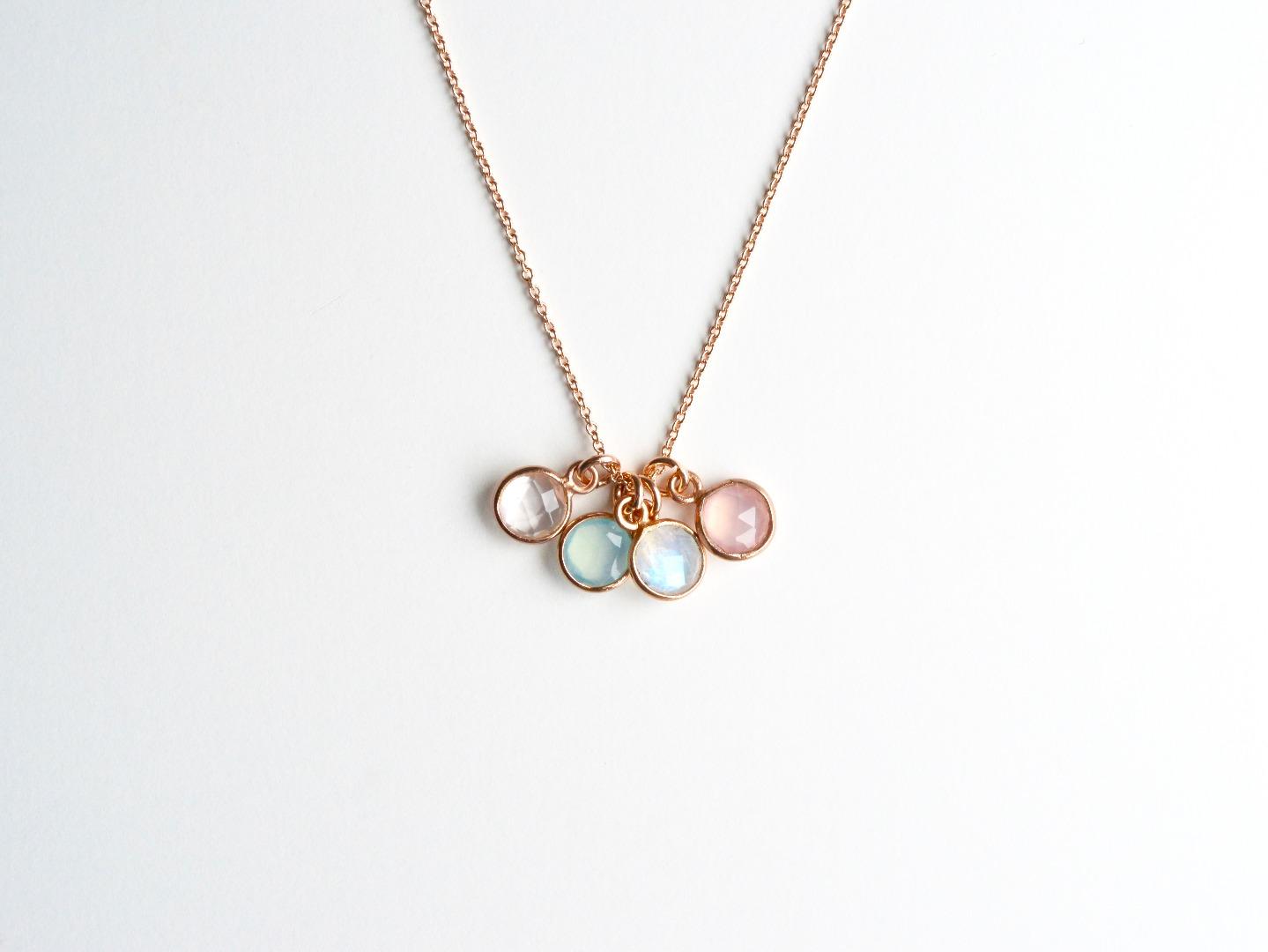 Your Choice Tiny Gems Kette ros vergoldet