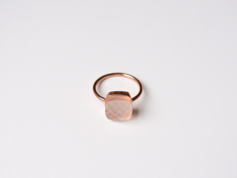 New in Rosa Chalcedon Ring ros vergoldet