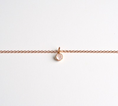 New in Tiny Gems Armband Rosenquarz ros vergoldet - 925 Sterling Silber