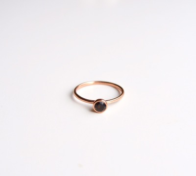 Tiny Collection Black Onyx Ring ros vergoldet - 925 Sterling Silber