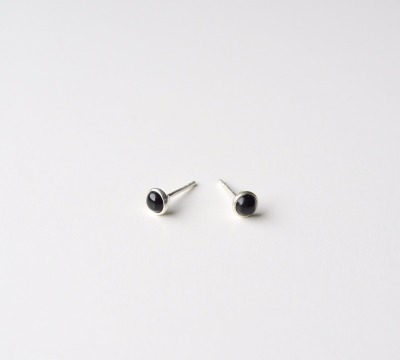 Tiny Collection Black Onyx Ohrstecker silber - 925 Sterling Silber