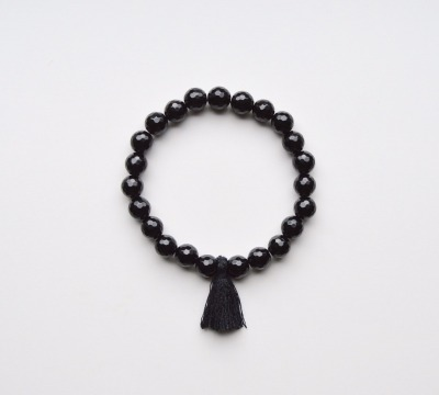 New in Black Onyx Quaste Armband