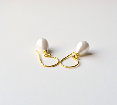 Ganz pur Edle Perlen Ohrringe vergoldet - 925 Sterling Silber