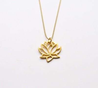 New in Kette Lotus Flower vergoldet