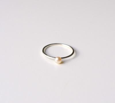 Zarter Ring Pearl silber - 925 Sterling Silber