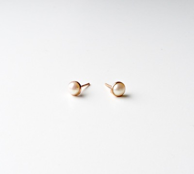 Pearls Collection Perlen Ohrstecker ros vergoldet - 925 Sterling Silber