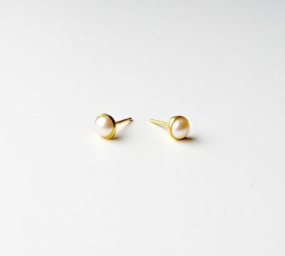 Pearls Perlen Ohrstecker vergoldet - 925 Sterling Silber