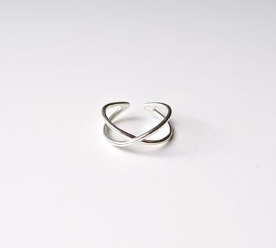 Ring Cross silber - 925 Sterling Silber