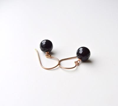 New in Edle Black Onyx Ohrringe vergoldet - 925 Sterling Silber