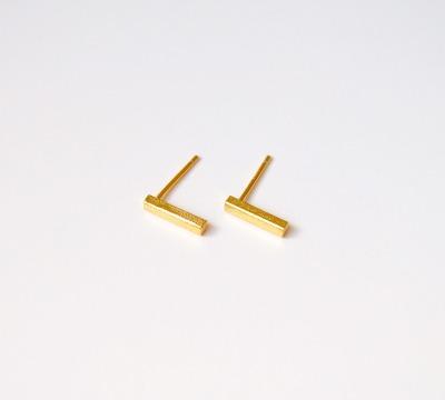 Brushed Bar Ohrstecker vergoldet - 925 Sterling Silber