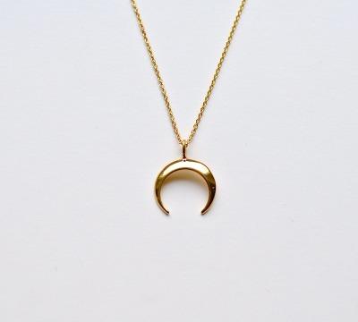 New in Crescent Moon Kette vergoldet - 925 Sterling Silber