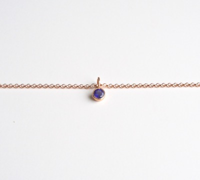 New in Tiny Gems Armband Iolith ros vergoldet - 925 Sterling Silber