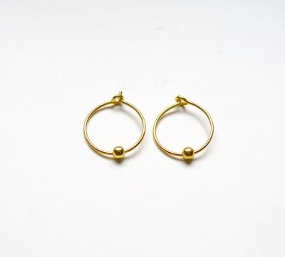 Simple Pure Zarte Creolen vergoldet - 925 Sterling Silber