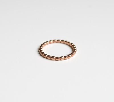Zart Kuegelchenring ros vergoldet - 925 Sterling Silber