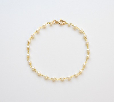 Zauberhaftes Perlen Armband vergoldet - 925 Sterling Silber
