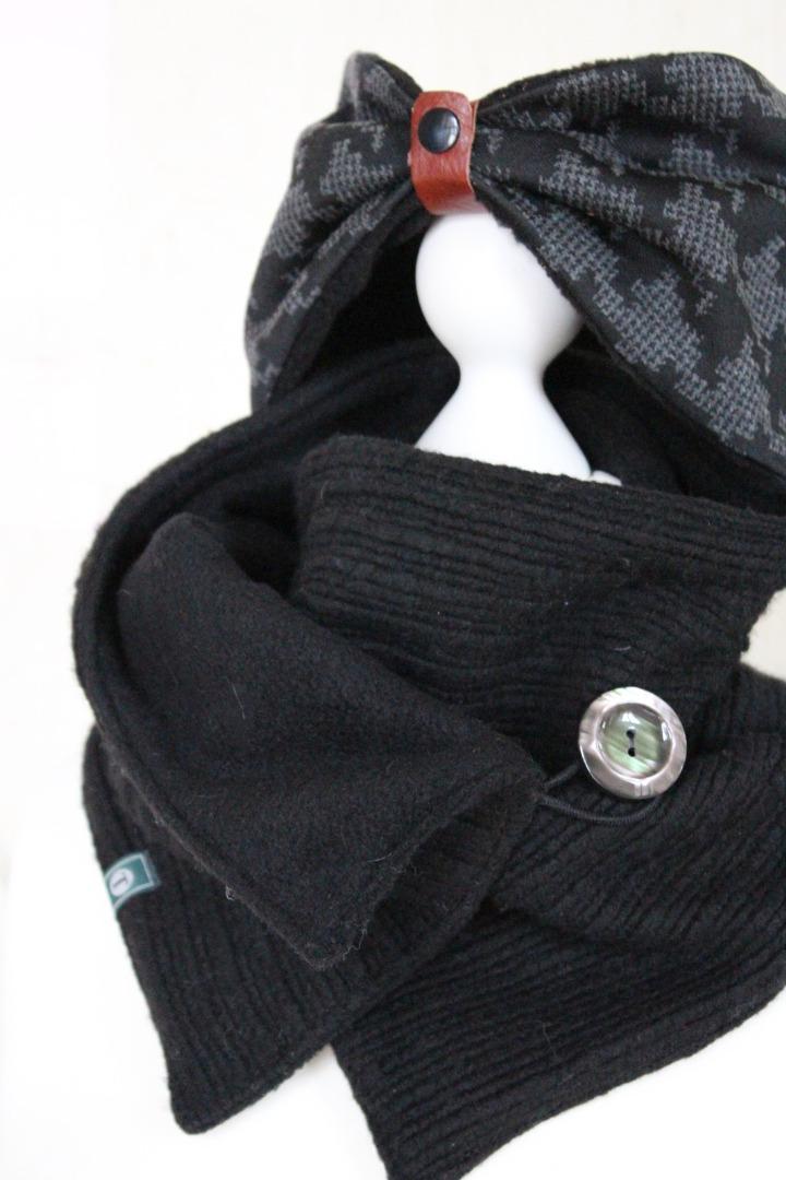Set Schal Stirnband Wintersturm 2