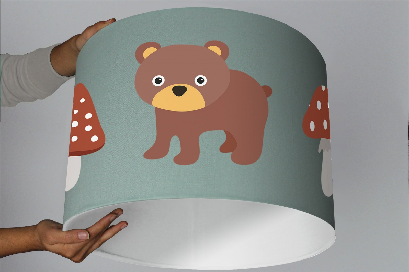 Kinderzimmer Lampenschirm Tiere Wald Kinderlampe Ninitak