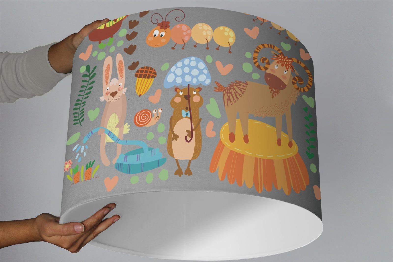 Lampe Kinderzimmer WALD TIERE mint