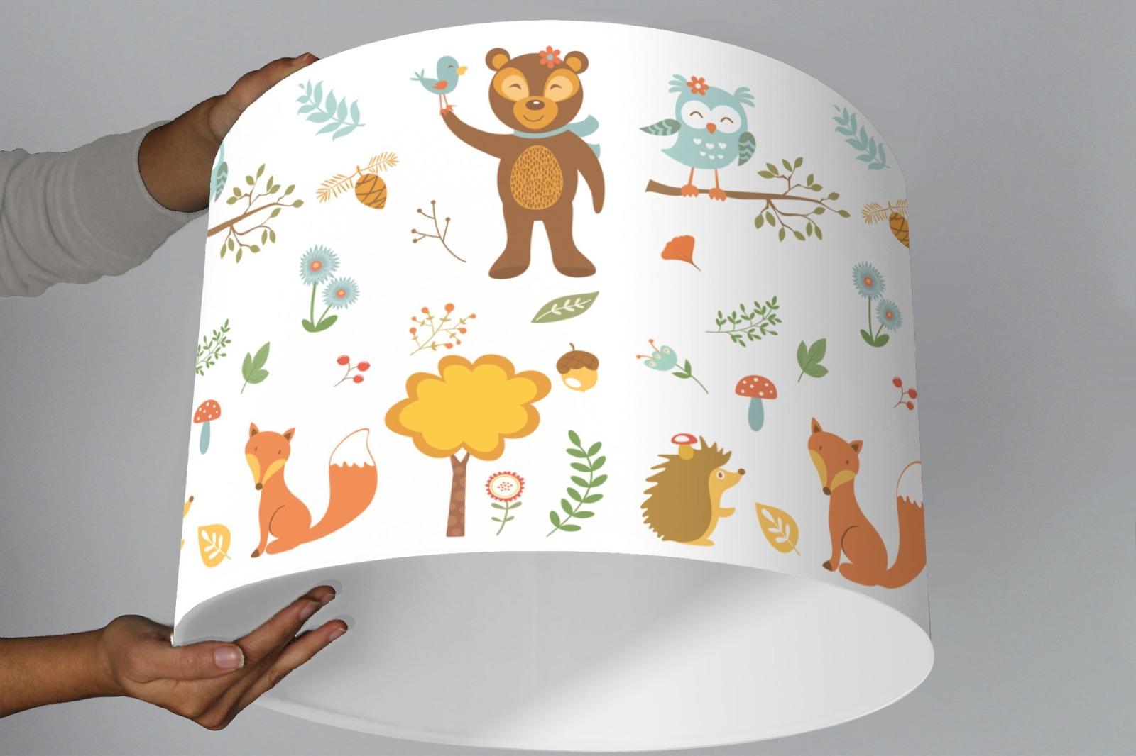 Lampenschirm Kinderzimmer Wald Tiere Weiss Ninitak >> 26 + Beaufiful ...