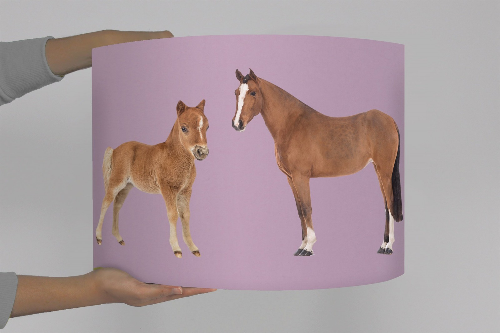 Kinderlampe Lampenschirm Pferde Pferdeherde Bauernhof Reiten Fohlen Baby  Babylampe Mädchen Mädchenlampe Kinderzimmer rosa lila