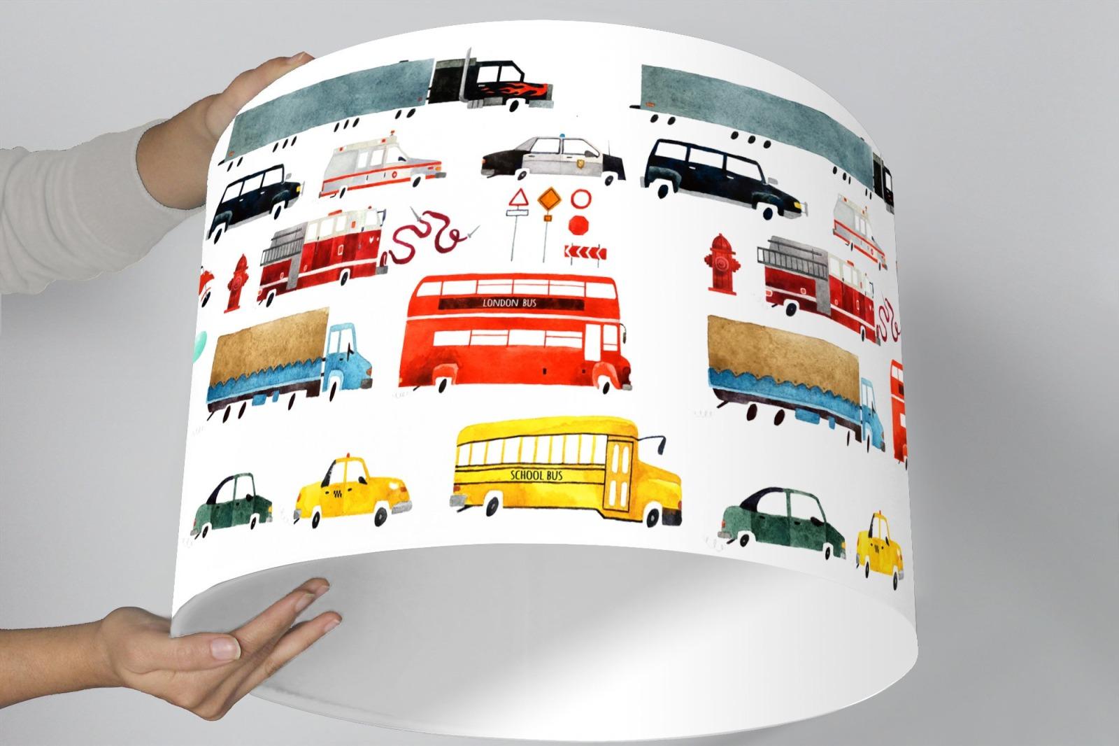 Lampenschirm Kinderzimmer Autos Feuerwehr | Ninitak