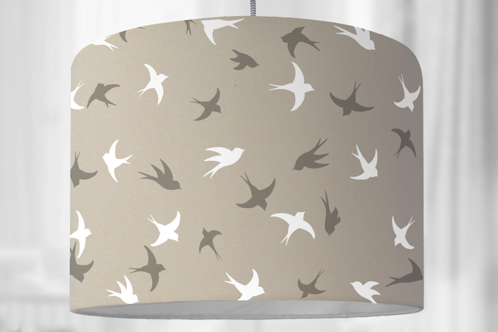 Kinderzimmer Beige lampenschirm kinderzimmer vögel vogellampe vogelmuster grafisches