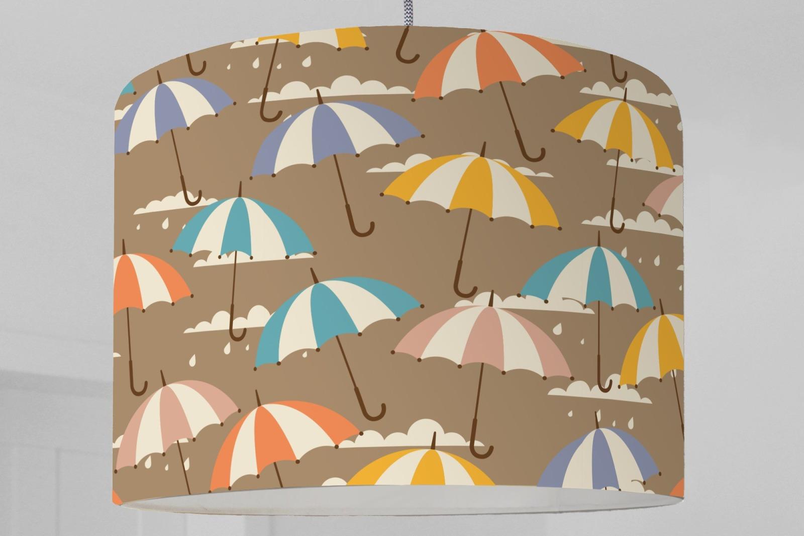 Lampenschirm Grafisches Muster Wolken Regenschirm Himmel