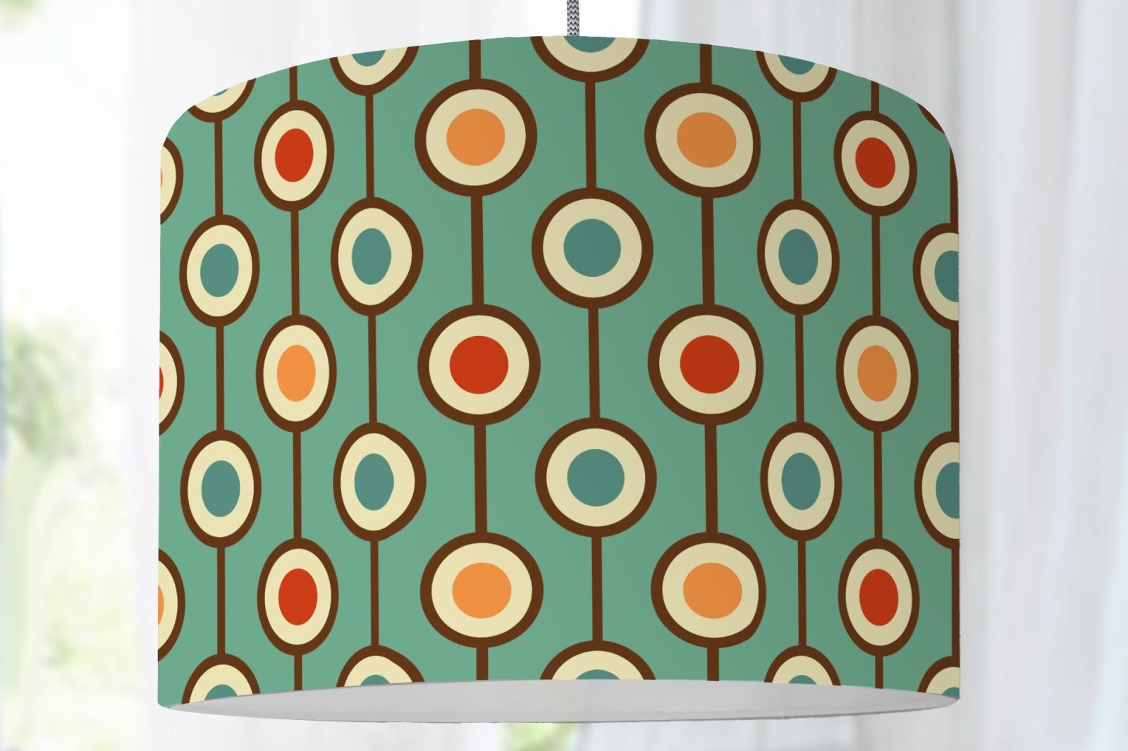 Lampenschirm Stehlampe Retro Muster Hippie 70s Bunt Grafisches