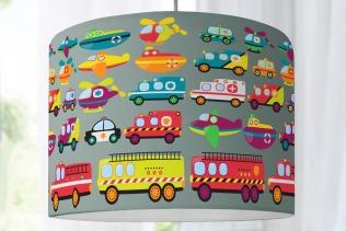 lampenschirm kinderzimmer feuerwehr krankenwagen polizei. Black Bedroom Furniture Sets. Home Design Ideas