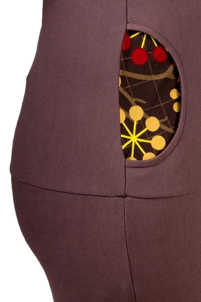 Hoodykleid Tilda-3 Sweatkleid braun Vogel Blume