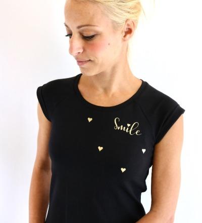 BALLONKLEID Mia-7 - schwarz gold Smile