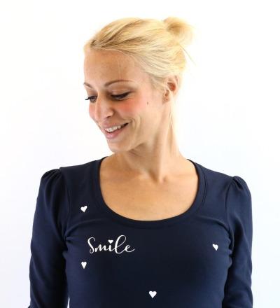 BALLONKLEID Polli-1 - dunkelblau Smile Herzen