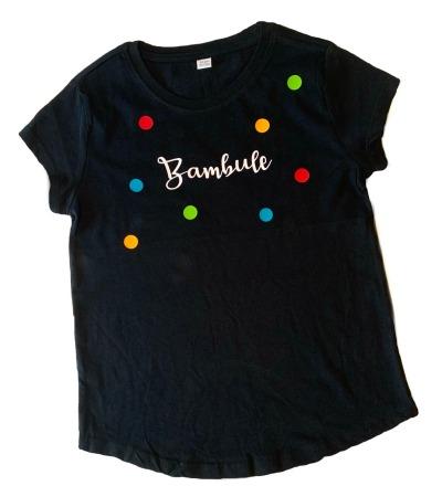 KIDS T-Shirt Bambule Kinder-Shirt schwarz bunte