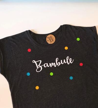 T-Shirt Bambule T-Shirt grau Konfetti Bambule