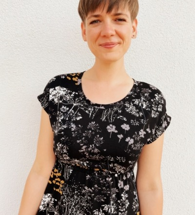Sommerkleid Pia-4 - Schwarz Pusteblume