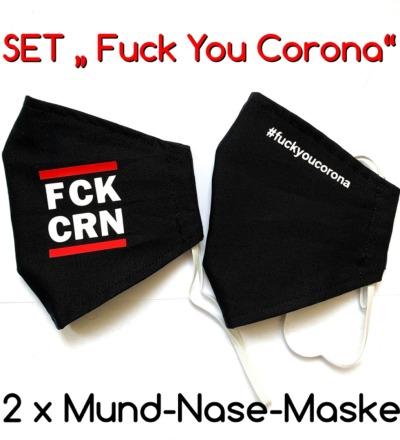 2x Mund-& Nasenbedeckung Fuck You Corona