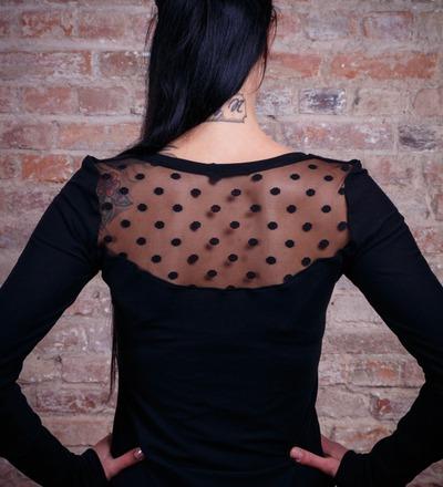 Kleid Molli-2 Ballonkleid schwarz Spitze Punkte
