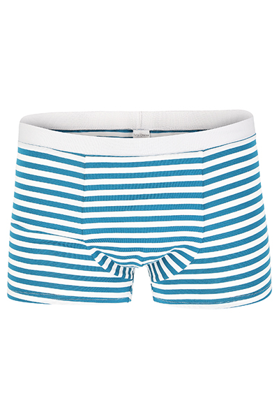 Bio Trunk Shorts / Retro Shorts petrol- weiß - 1