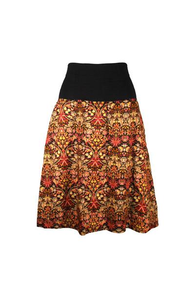 Organic skirt Freudian Mandala black