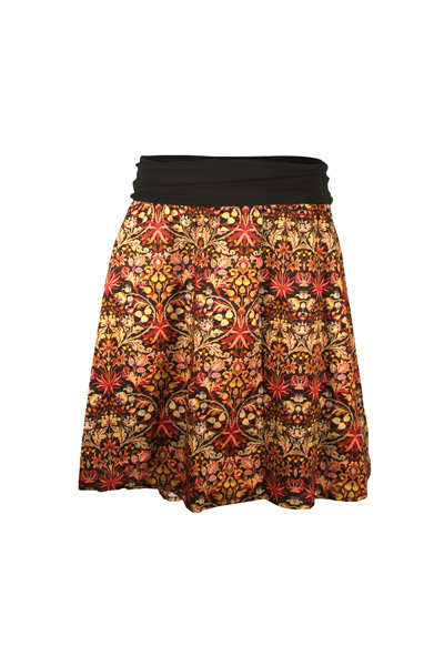 Organic skirt Freudian Mandala black 2