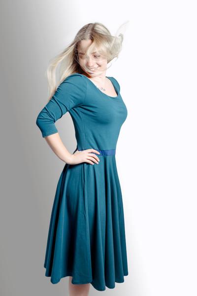 Bio Kleid Vrida smaragd/ blau - 2